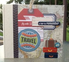Travel Scrapbook Kit or Premade Mini Album by ArtsyAlbums on Etsy, $41.99