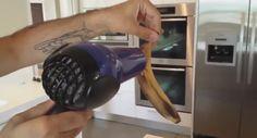 Deze man deed een banaan in een zak met rijst en ging hem föhnen. Waarom? Briljant!