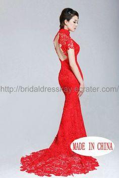 58 ideas for wedding dresses mermaid red beautiful Red Lace Wedding Dress, Wedding Gowns, Backless Wedding, Grey Bridesmaid Dresses, Wedding Beauty, Dream Wedding, Mermaid Dresses, Beautiful Gowns, Marie