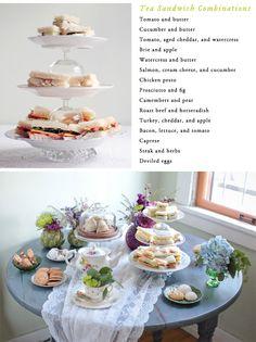 tea sandwich combinations