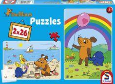 Schmidt Spiele 55966 - Die Maus, Gute Freunde, 2 x 26 Teile: Amazon.de: Spielzeug