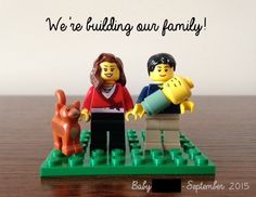 lego baby announcement - Google Search