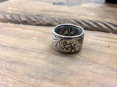 Sterling silver and 14 k gold handmade ring by Bradan Wiest