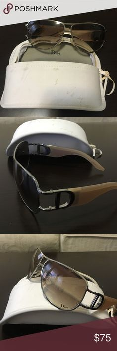 NEW Dior sunglasses Cream slight tint DIOR sunglasses perfect with every outfit! Never worn!!!! Dior Accessories Sunglasses