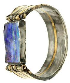 Judy Geib,    Saturn bracelet, boulder opal, 18 + 24k gold & silver judy judy judy!!!