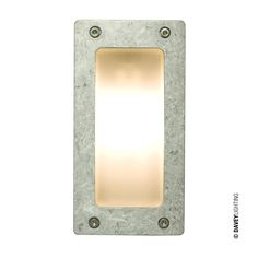 Rectangular path or amenity light. Die cast in aluminium with frosted glass diffuser. Surface mounted with rear cable entry. Front cover secured by four stainless steel socket head screws.. Type of fitting: G9. Number of lamps: 1. Lamp: Capsule. Maximum wattage: 40. Voltage: 230 (AC). Bulb Supplied: No. Type of glass: Frosted glass. IP Rating : IP54. Dimmable: Yes