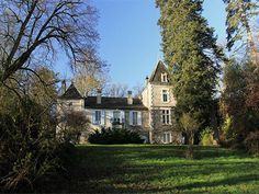 French Chateau for sale in 24 - Dordogne , Aquitaine France. In the Perigord Pourpre, 15 kms from Bergerac, this charming small XVII and XIXth C. Chateau occupies a c ommanding position with a view of a small valley and wooded hillsides.