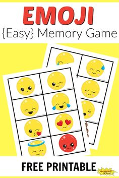 A free printable emoji memory game for kids that is super easy to make and play. Fun for the whole family.
