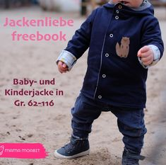 """Kinderjacke Freebook """"Jackenliebe"""" – kostenloses Schnittmuster – Lila wie Liebe The children's jacket """"Jackenliebe"""" can be sewn quickly and is Sewing For Kids, Baby Sewing, Sewing Patterns Free, Free Sewing, Winter Baby Clothes, Baby Winter, Zara Kids, Vintage Sewing, Baby Knitting"""