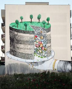 STREET ART IN BIG FORMAT by BLU - One name has emerged to  be one of the most popular and influential street artists over the last decade. His name is Blu,  an  Italian artist who conceals his real identity. He lives in Bologna and has been creating street art since 1999.