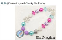 Frozen Inspired Chunky Necklace just $7.99!