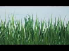Acrylic Paint Grass - How To Paint Grass - with Acrylic - YouTube