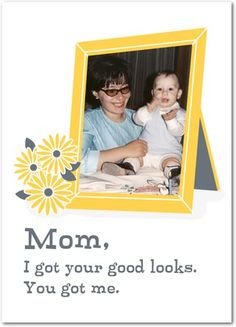 Frank Frame - Mother's Day Greeting Cards - Magnolia Press - Mustard - Yellow : Front