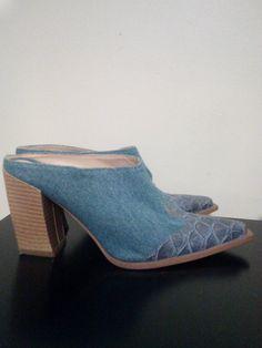 Italian Y Lenia Denim Boot Mules /Euro Size by JulesCristenVintage