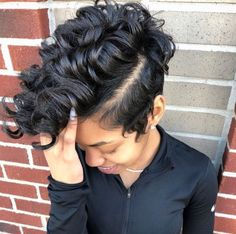 Buy this short curly wigs for black women lace front wigs human hair wigs african american wigs the same as the hairstyles in picture Dope Hairstyles, My Hairstyle, Pretty Hairstyles, Braid Hairstyles, Curly Hair Styles, Natural Hair Styles, Sassy Hair, Short Hair Cuts, Pixie Cuts