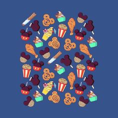 Snacks For Days - World - Disney - T-Shirt | TeePublic Disney T-shirts, Disney Snacks, Arte Disney, Disney Food, Disney Collage, Disney Artwork, Disney Doodles, Pixar, Disney Clipart