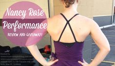 Check out my review of @Nancy Rose Performance gear and enter to win your own. Open to US and Canada residents only; ends May 21, 12:00est.  #crossfit #yoga