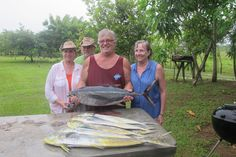 Our catch of the day when my wife and friends jerry and Liane Glabe went fishing while on vacation in Pedasi, Panama, Central America