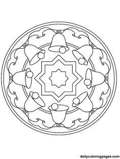 Christmas Mandala Coloring Pages 8 10 From 87 Votes Christmas Mandala