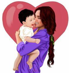 Miedo a la maternidad Mother Daughter Art, Mother Art, Mother And Baby, Mothers Of Boys, Mothers Love, Cute Girl Drawing, Cute Drawings, Sarra Art, Girly M