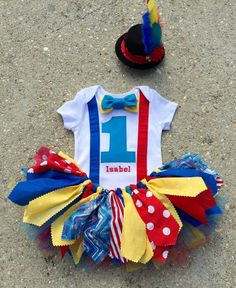 Circus outfit Clown Outfit personalized shabby chic by LilNicks