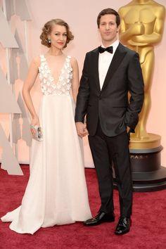 Oscars - Andy Samberg and wife Joanna Newsom