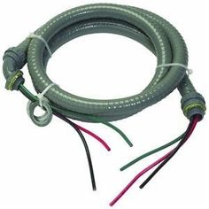Southwire 55189401 1/2-Inch 6-Feet ULTRA Whip-Pre-Assembled with Wires and Connectors Non-Metallic Liquid tight Hook-Up Whip by Southwire. $19.46. 1/2-Inch ULTRA Whip-Pre-Assembled with Wires and Connectors Non-Metallic Liquid tight Hook-Up Whip. 600-Volt. Two 10-Gauge Stranded Copper THHN/THWN Insulated Singles Black and Red. Green Insulated Copper Grounding Conductor also 10-Gauge Stranded Copper THHN/THWN . Highly Flexible Non-metallic Conduit with Factory Installed Cond...
