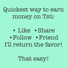 Come follow me on www.tsu.co/thabawse....where we make money liking, sharing & posting...amen as Facebook except they make money off us...so register, follow, like & share with me...www.tsu.co/thabawse