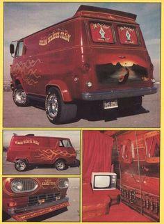 1970's custom Van.