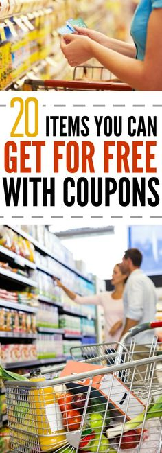 couponing Here are 20 items you can get for free with coupons. Use our tips to get these items for free with coupons easily. Using coupons effectively. Extreme Couponing, How To Start Couponing, Couponing For Beginners, Couponing 101, Save Money On Groceries, Ways To Save Money, Money Saving Tips, Money Savers, Saving Ideas