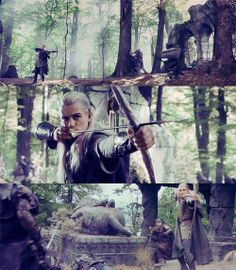 Legolas and his awesome bow and arrow skills