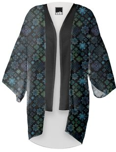 Midnight Snowflakes Kimono from PAOM...SpiceTree @ Print All Over Me.