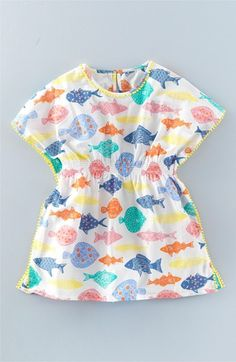 Mini Boden 'Holiday' Cover-Up Caftan (Toddler Girls, Little Girls & Big Girls)