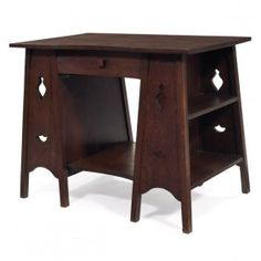 Arts & Crafts library table
