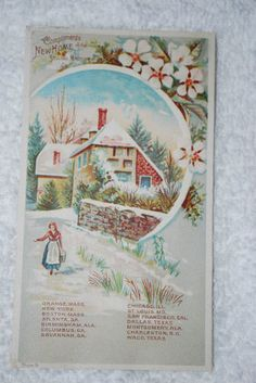 New Home Sewing Machine Trade Card