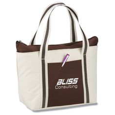 Brown-bagging it is so much more stylish with these logo'd lunch totes!