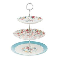 Buy Cath Kidston Clifton Rose 3 Tier Cake Stand from our Cake Stands range at John Lewis & Partners. Cath Kidston Kitchen, Cath Kidston Shop, 3 Tier Cake Stand, Cake Stands, Small American Kitchens, Patterned Cake, Vintage Dishware, Dessert Aux Fruits, Hidden Kitchen