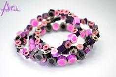 - All purple - bracelets Pencil, Purple, Bracelets, Jewelry, Jewlery, Bijoux, Schmuck, Purple Stuff, Jewerly