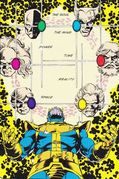 """#Soul, #Mind, #Power, #Time, #Reality and #Space """"A Page from Infinity #Gauntlet #1"""" (1991) By George Perez"""
