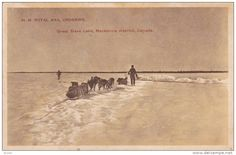 H.M. Royal Mail dog sled Crossing , Great Slave Lake , Mackenzie district , N.W.T. , Canada , 00-10s - Delcampe.com Ice Lake, Royal Mail, Sled, Original Image, Doge, Postcards, Places To Visit, Canada