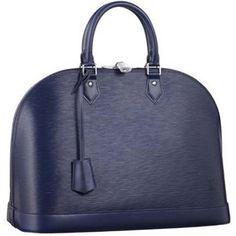 Louis Vuitton Alma in Epi leather ~ Indigo #M40620. LOVE this color