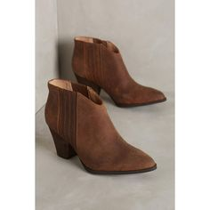 Splendid Addie Ankle Boots ($178) ❤ liked on Polyvore featuring shoes, boots, ankle booties, coffee, slip on booties, pull on boots, ankle boots, slip on boots and short boots