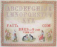Fait par Emilia Moreau à Combres 1897 (M)