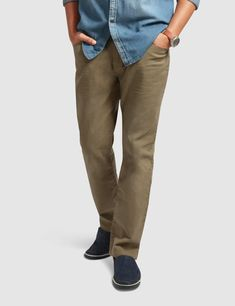 These slim fit chinos give you a smarter look for all occasions whether casual or formal. Our non-pleated pants feature 5 pockets, zip fly and a top button closure. These cotton chinos with keep you comfortable all year round. Mens Chino Pants, Denim Pants, Khaki Pants, Slim Fit Chinos, Pleated Pants, Denim Outfit, Wholesale Clothing, Pockets, Flats