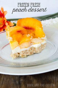 Frozen Fresh Peach Dessert