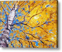 Stupendous Art World with Oil Paintings: Artist Original Oil Painting - Sky Birch Oil Painting Trees, Simple Oil Painting, Abstract Tree Painting, Oil Paintings, Summer Painting, Painting People, Abstract Oil, Painting Art, Painting Frames