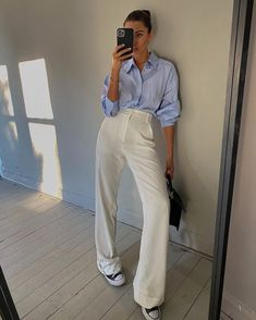 Classy Outfits, New Outfits, Spring Outfits, Casual Outfits, Fashion Outfits, Ootd Classy, Outfit Summer, Mode Ootd, Mode Style