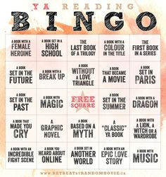 """Man, I LOVE playing BINGO! And there's no better feeling than to be the first one to call out, """"BINGO!"""" So here's a New Year's Challenge f. Reading Bingo, Reading Slump, Guided Reading, Reading Lists, 40 Book Challenge, Reading Challenge, Challenge Ideas, Fourth Of July Crafts For Kids, Middle School Libraries"""