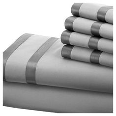 6-Piece Veronica Sheet Set in Silver and Graphite  at Joss and Main