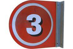 Number 3 Sign